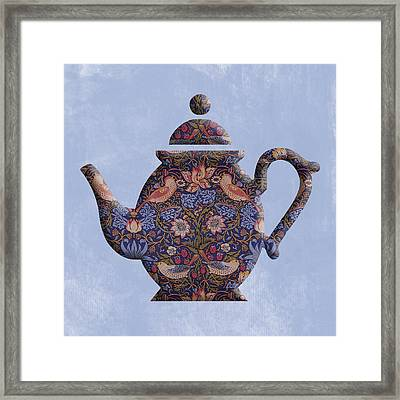 The Strawberry Thief Pattern Teapot Framed Print