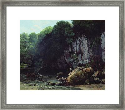The Stream From The Black Cavern Framed Print