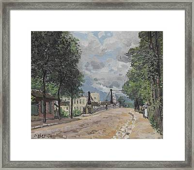 The Street At Gennevilliers Framed Print by MotionAge Designs