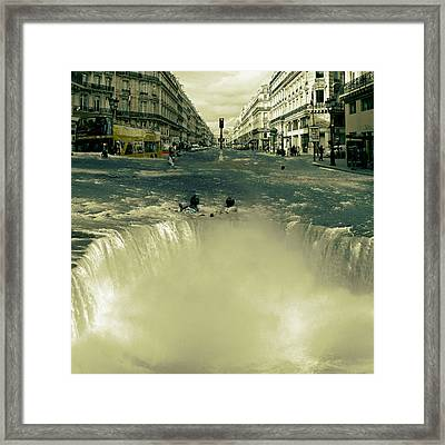 The Street Fall Framed Print by Marian Voicu