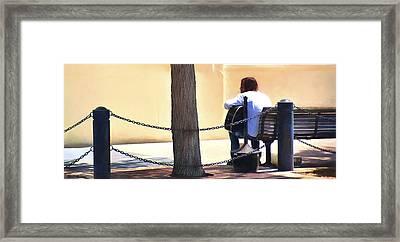 The Street Musician Framed Print
