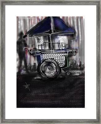 The Street Vendor Framed Print