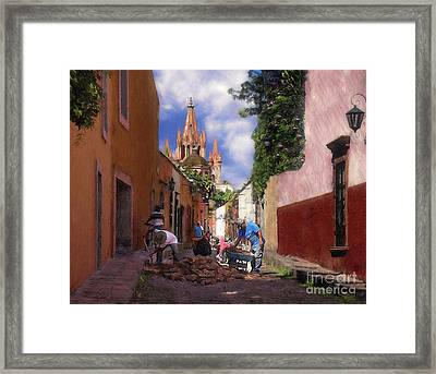 The Street Workers Framed Print