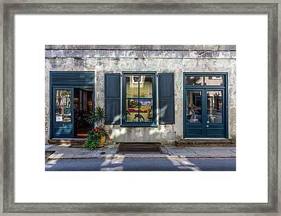 The Streets Of Charleston Framed Print