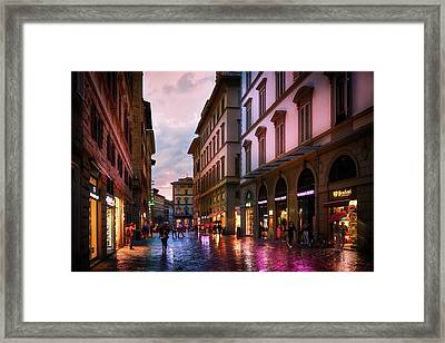 The Streets Of Florence Framed Print