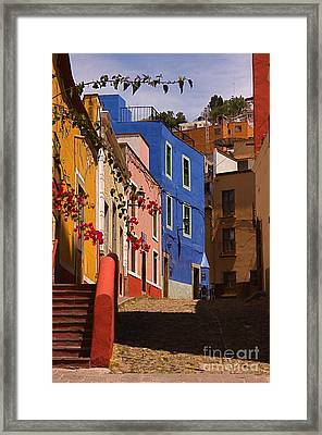 The Streets Of Guanajuato Framed Print