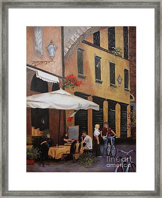 The Streets Of Lucca Framed Print by Barbara Sutton