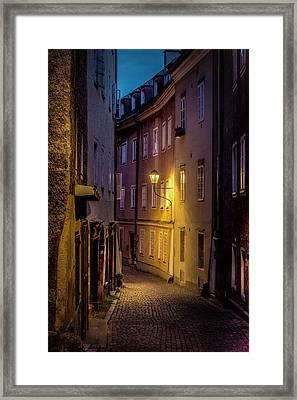The Streets Of Salzburg Framed Print