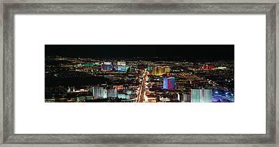 The Strip At Las Vegas,nevada Framed Print