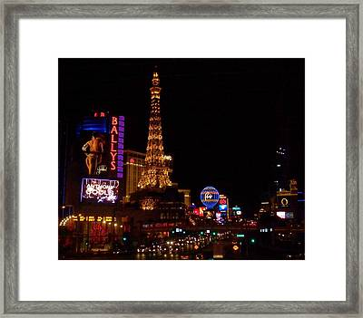 The Strip At Night 1 Framed Print by Anita Burgermeister