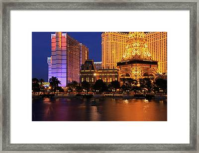The Strip At Night 1 Framed Print by Don MacCarthy