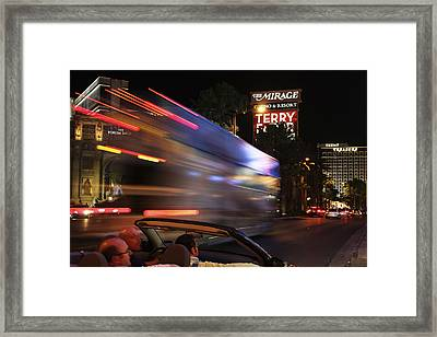 The Strip At Night 4 Framed Print by Don MacCarthy