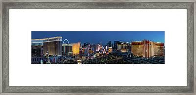 The Strip Las Vegas Dusk Framed Print by Steve Gadomski