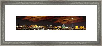 Framed Print featuring the photograph The Strip by Ryan Smith
