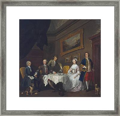 The Strode Family Framed Print by William Hogarth