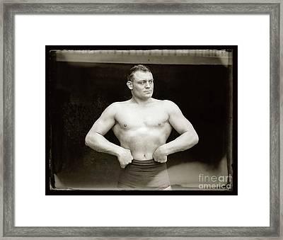 The Strong Man Framed Print
