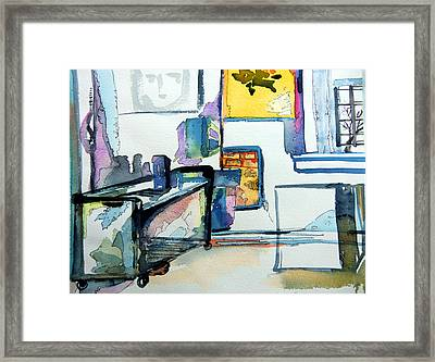 The Studio Of The Artist Framed Print by Mindy Newman