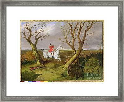 The Suffolk Hunt - Gone Away Framed Print by John Frederick Herring Snr