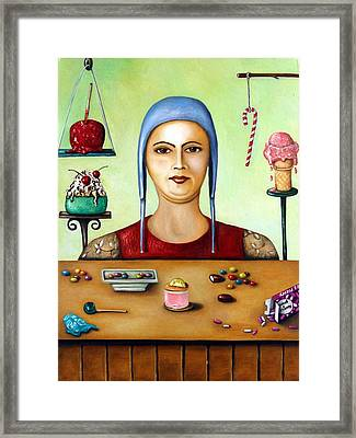 The Sugar Addict Framed Print by Leah Saulnier The Painting Maniac