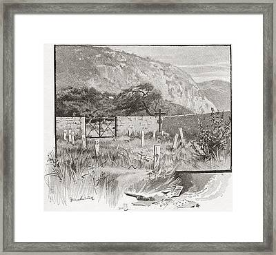 The Suicide S Cemetery, Monte Carlo Framed Print by Vintage Design Pics