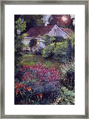 The Summer Evening Cottage Framed Print by David Lloyd Glover