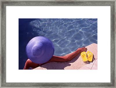 The Summer Hat Framed Print by Steve Outram