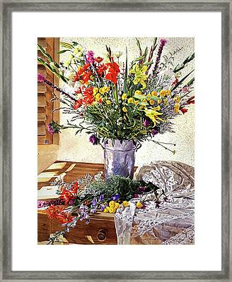 The Summer Room Framed Print by David Lloyd Glover