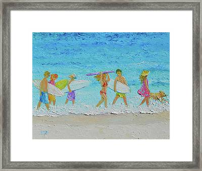 The Summer Vacation Framed Print by Jan Matson