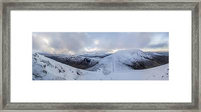 The Summit And Down The Wall Framed Print