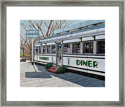 The Summit Diner Framed Print