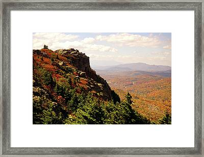Framed Print featuring the photograph The Summit In Fall by Meta Gatschenberger