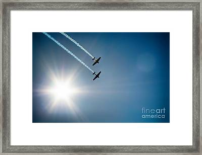 The Sun And Birds  Framed Print by Celestial Images