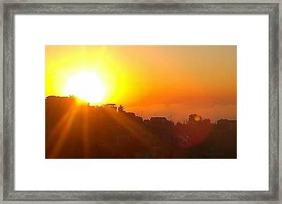 The Sun As Is Ablaze, Never Ceases To Amaze Framed Print