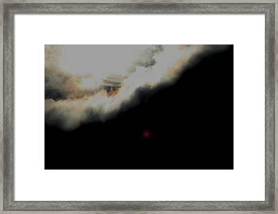 The Sun Behind The Cloud  1 Framed Print by Paul SEQUENCE Ferguson             sequence dot net