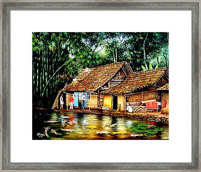The Sun Does Not Forget A Village Just Because It Is Small  Framed Print by Yuki Othsuka