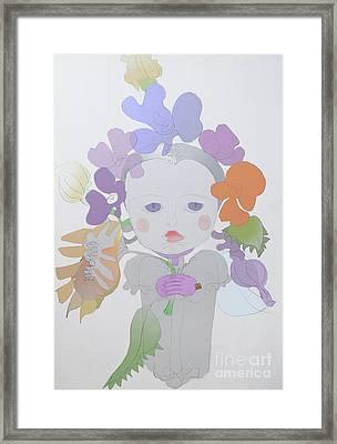 The Sun Flower Child Fairy Framed Print by Iordache Alice