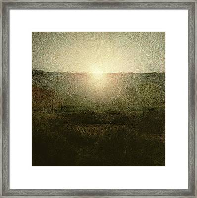 The Sun Framed Print by Giuseppe Pellizza da Volpedo