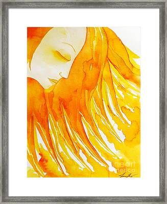The Sun Goddess Framed Print by Jean Fry
