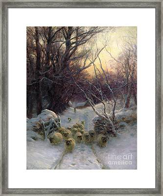 The Sun Had Closed The Winter Day Framed Print