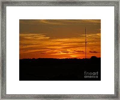 The Sun Has Set In Cape Cod Framed Print