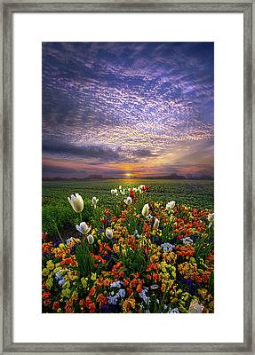 The Sun Just Touched The Morning Framed Print by Phil Koch