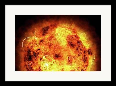 Temperature Digital Art Framed Prints
