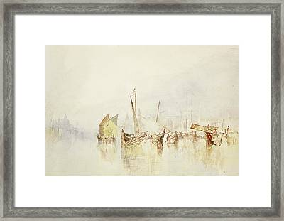 The Sun Of Venice Framed Print by Joseph Mallord William Turner