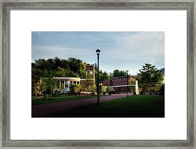 The Sun Rises On Western Carolina University Framed Print