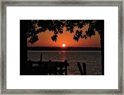 Framed Print featuring the photograph The Sun Rises Over The Bay by Mark Dodd