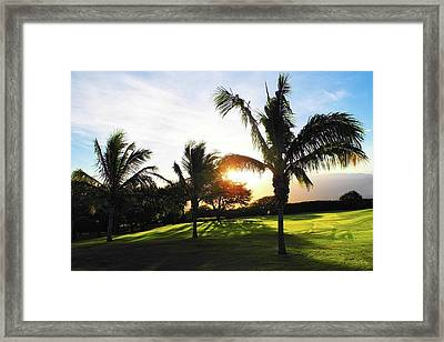 The Sun Rising Behind Haleakala Framed Print