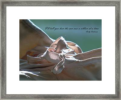 The Sun Rose A Ribbon Framed Print by Barbara St Jean