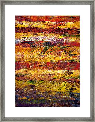 The Sun Rose One Step At A Time Framed Print by Wayne Potrafka