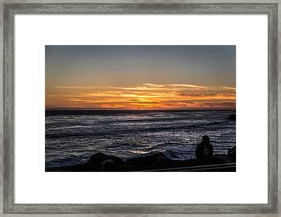 The Sun Says Goodbye Framed Print