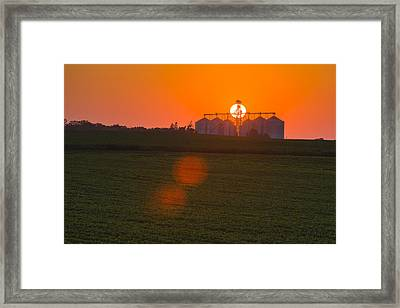 The Sun Sets Behind A Large Commercial Framed Print by Scott Sinklier
